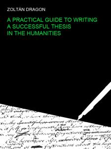 Writing dissertation humanities